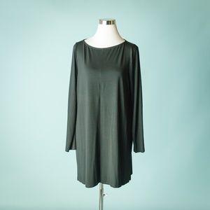 Eileen Fisher L Black Shift Tunic Dress